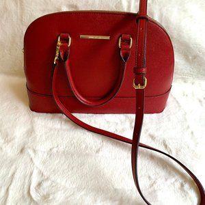 Anne Klein leather purse poka dot lining